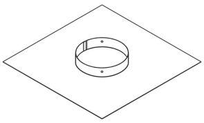 Chimney Plate to suit Inbuilt Flue Kit (Inbuilt heaters only)