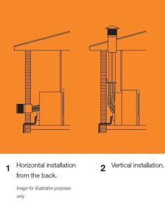 Flue Kit Suitable For Cannon Powerflue Heaters