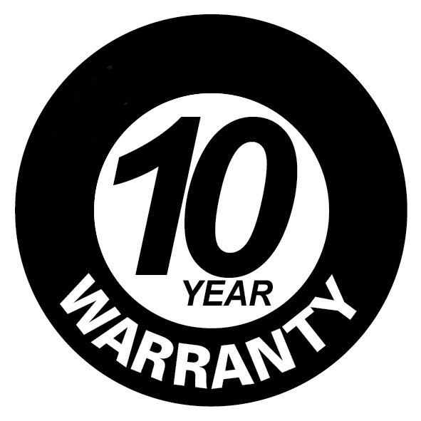 10 Year warranty on heat exchanger or firebox for all fireplaces